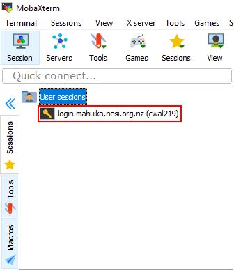 MobaXterm Setup (Windows) – NeSI Support